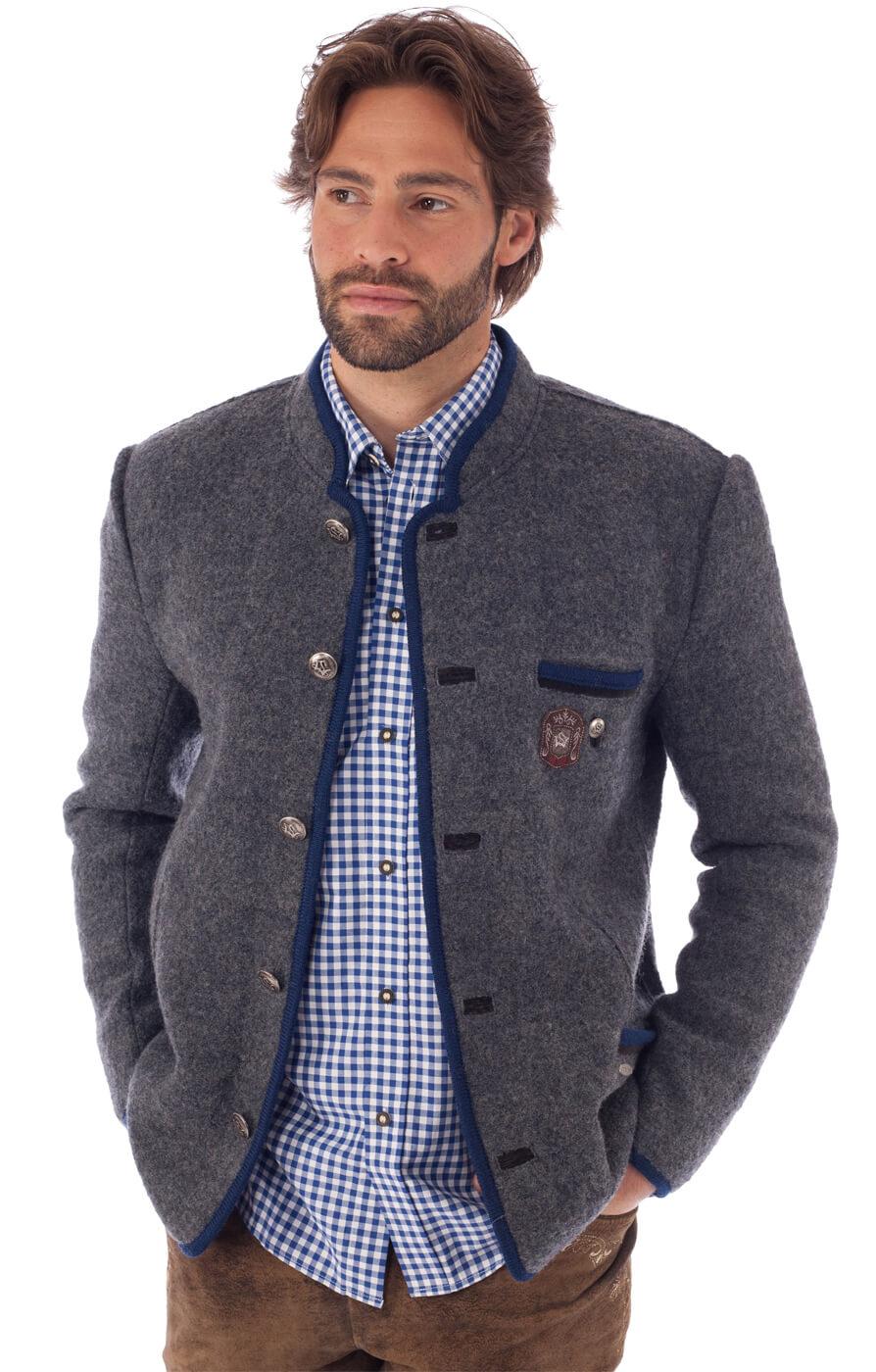 traditional jacket outdoor Birgel WJ grey denim von Spieth & Wensky