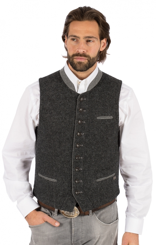 German knitted waistcoat KNALLER SW dark gray