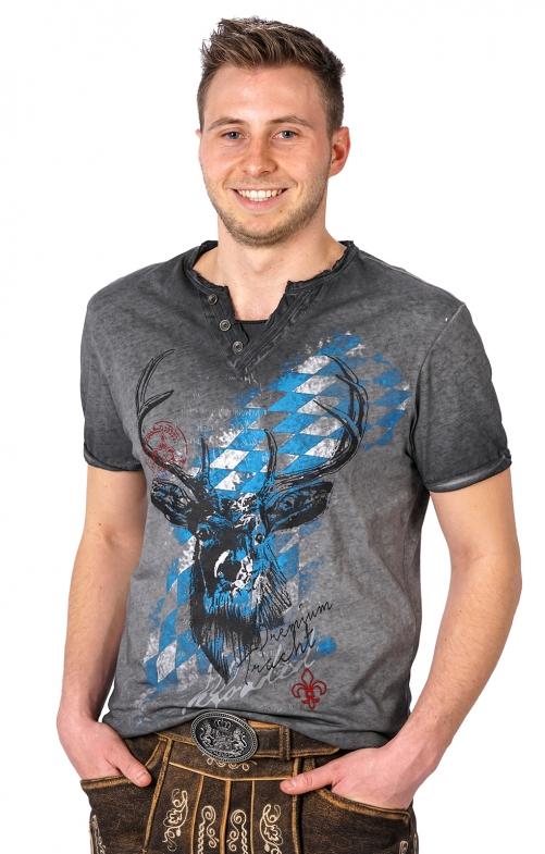 Traditional German T-Shirt FERDI Bavaria grau