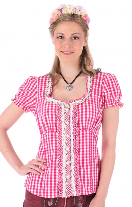 Traditional blouse Ally pink