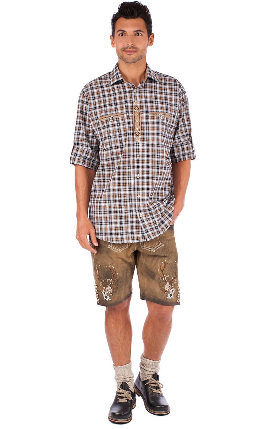 weitere Bilder von German traditional shirt 920004-3310-69 brown