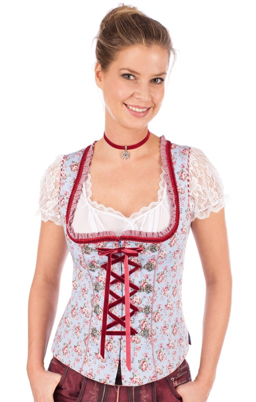 Traditional dirndl corsage 32540-809 blue