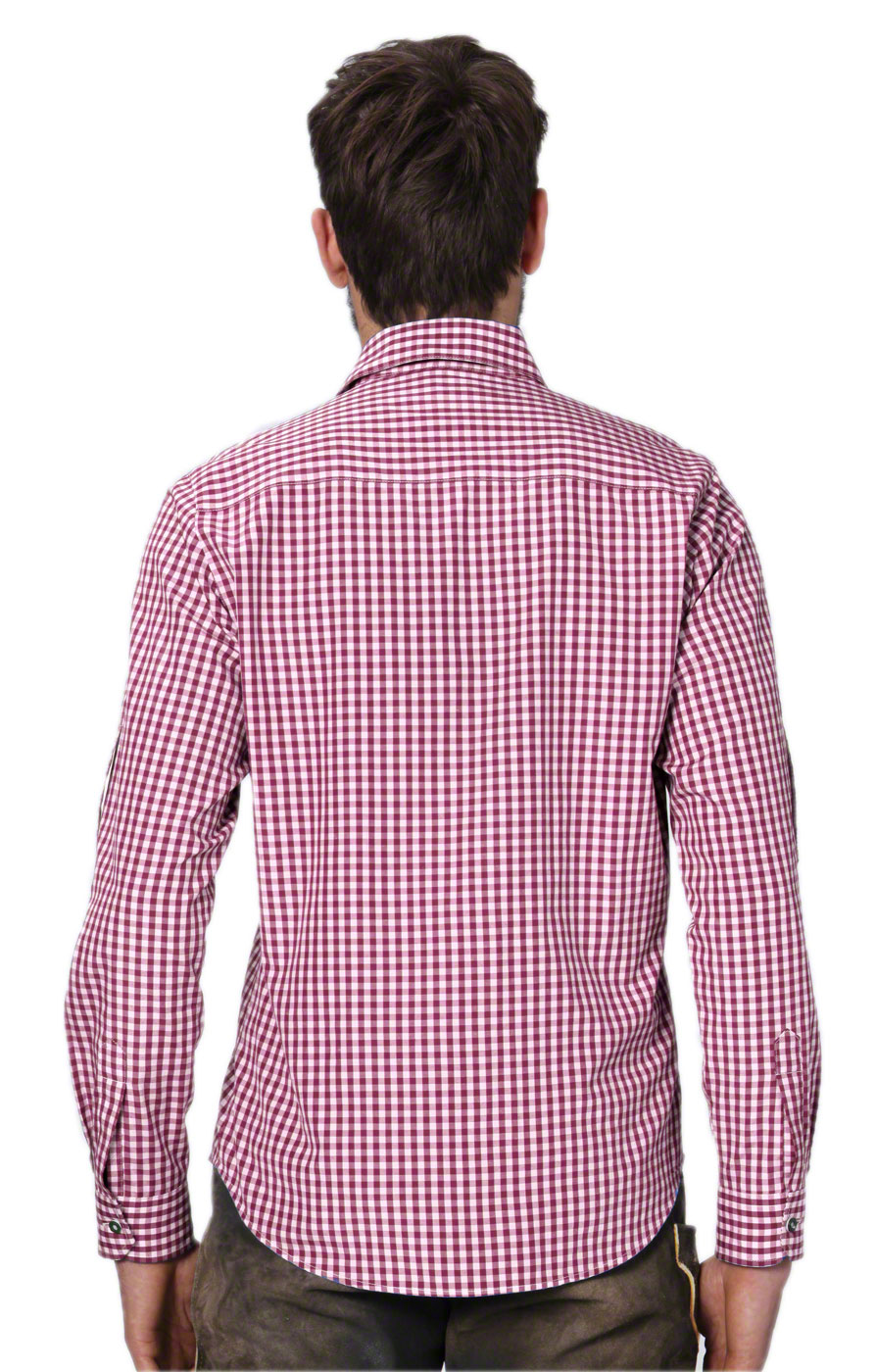 weitere Bilder von German traditional shirt checkered Campos2 bordeaux