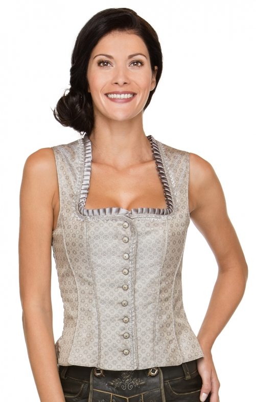 Traditional dirndl corsage Shana taupe