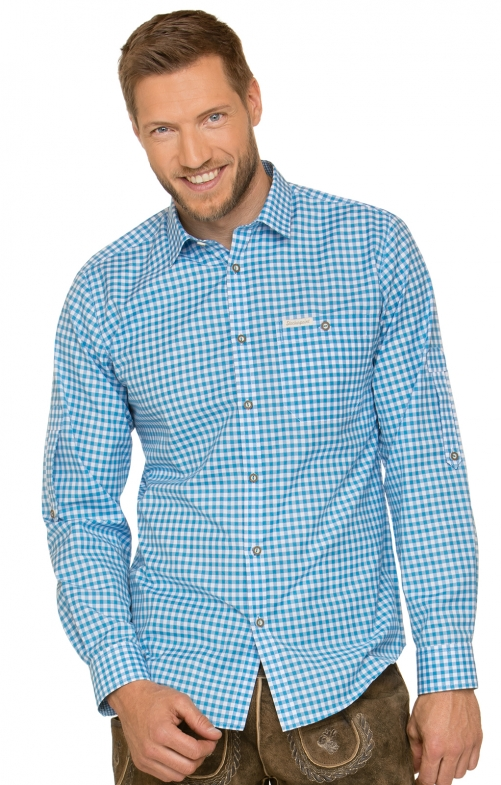 German traditional shirt CAMPOS3 turquoise