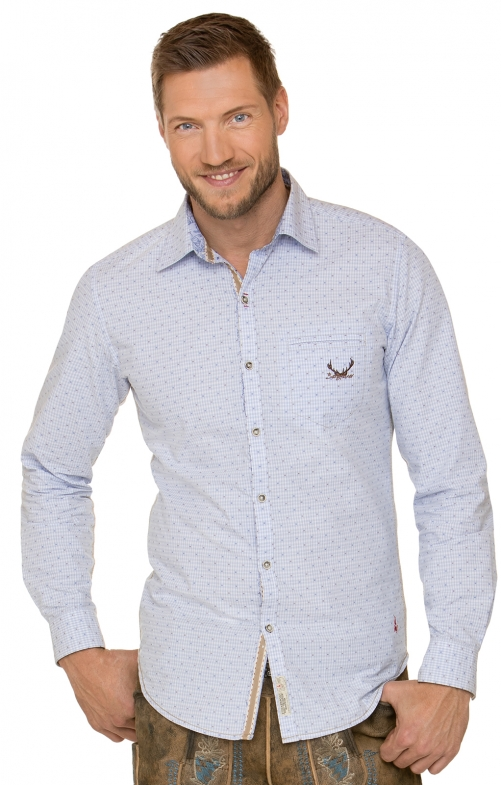 German traditional shirt JESSE blue