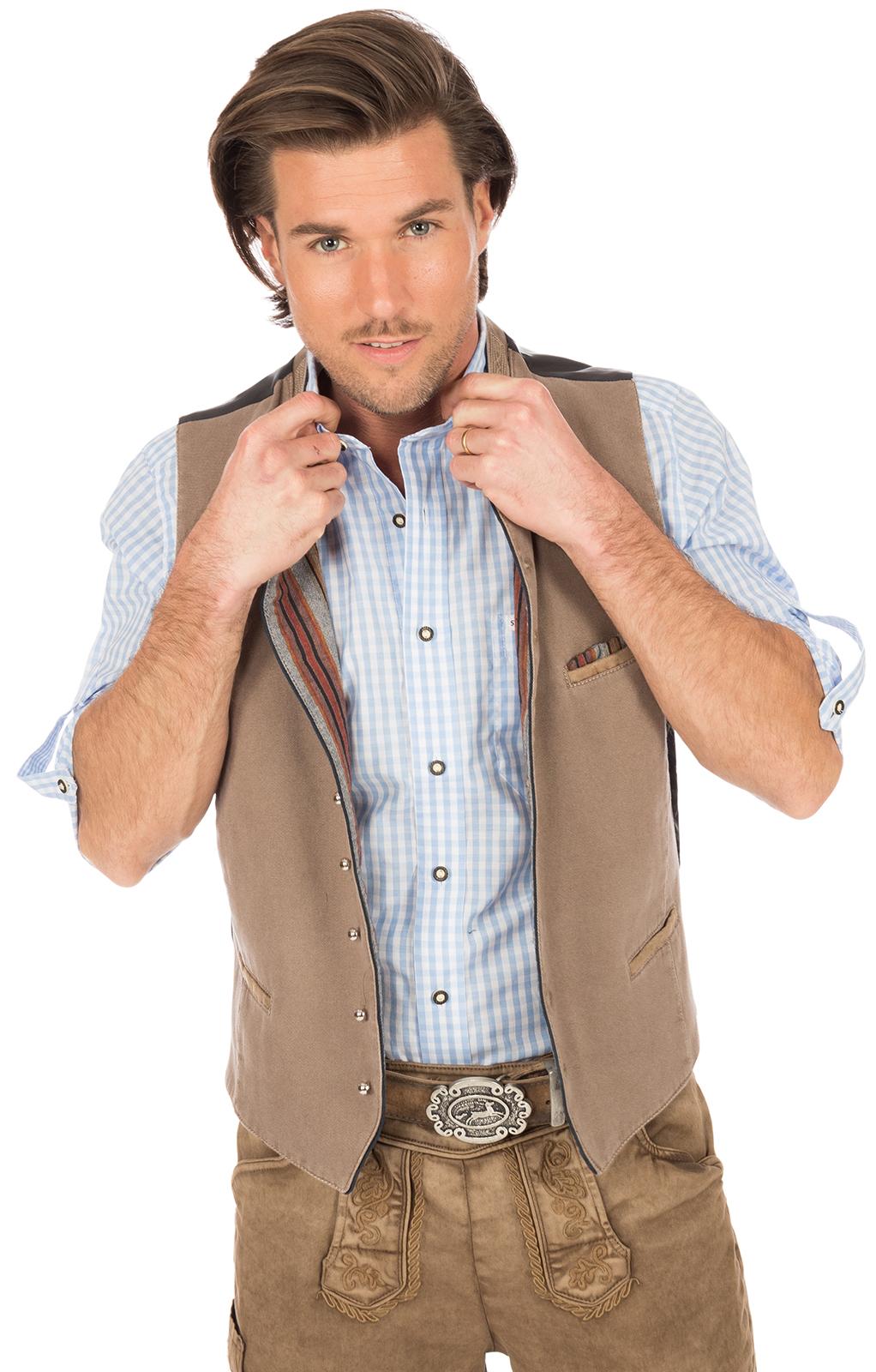 weitere Bilder von Traditional waistcoat with welt pockets tan