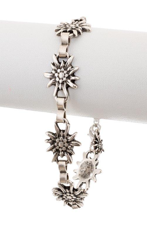 Bracelet AB7001 oldsilver edelweiss