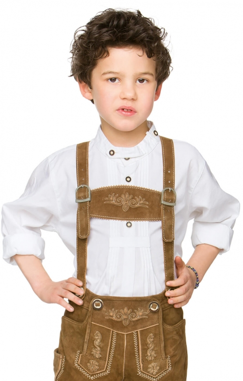 Children traditional shirt Marty white