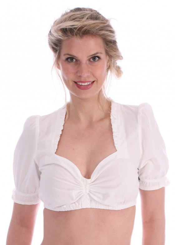 Traditional dirndl blouse Finerl creme
