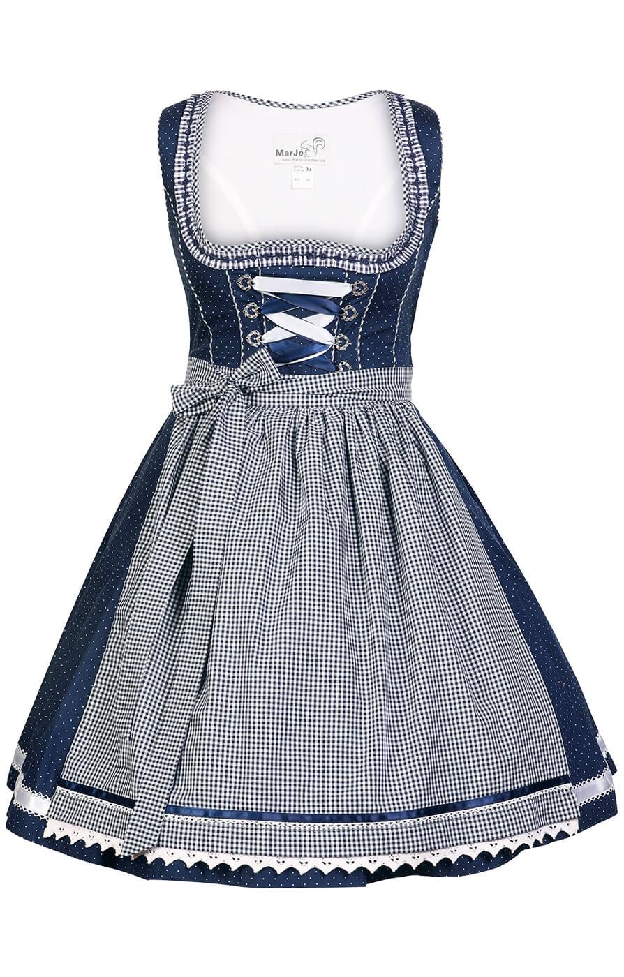 weitere Bilder von Minidirndl 2pcs. Miriam2 blue white 58cm