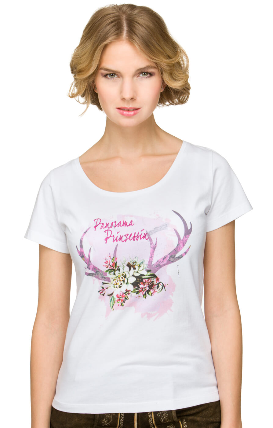 Traditional T-Shirt Nora white von Stockerpoint