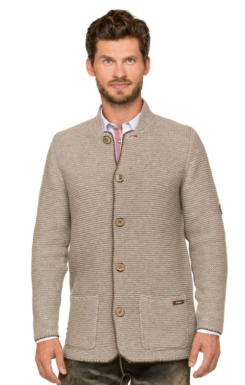 Traditional german cardigan MANSON brown