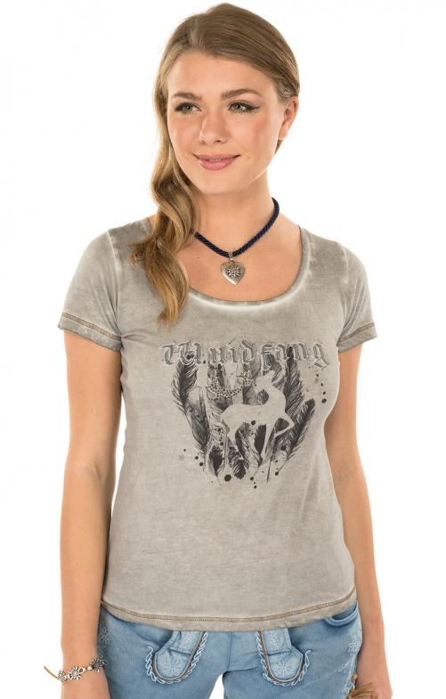 Trachten Shirt K02-SILBERHIRSCHgray