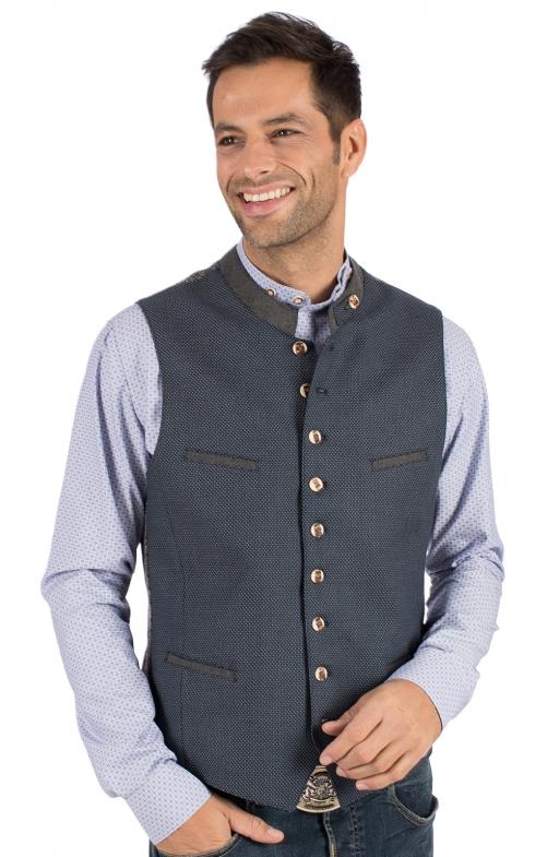 Traditional waistcoat LASSE blue