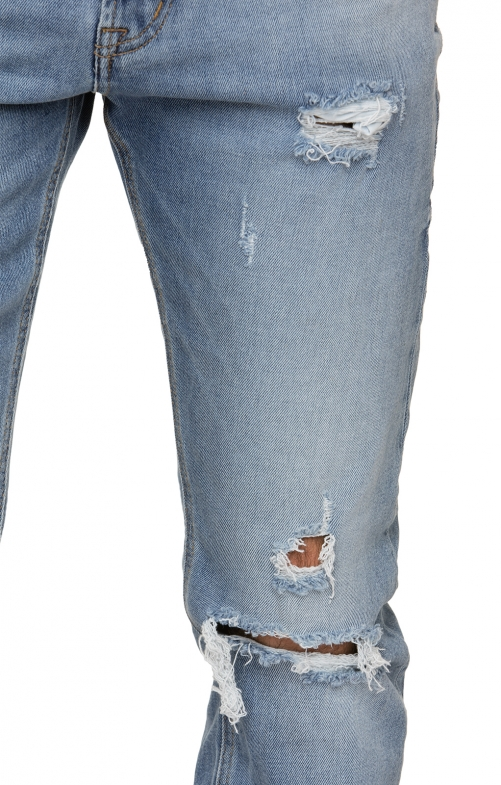 Traditional jeans No1-10stonedestroyed blue