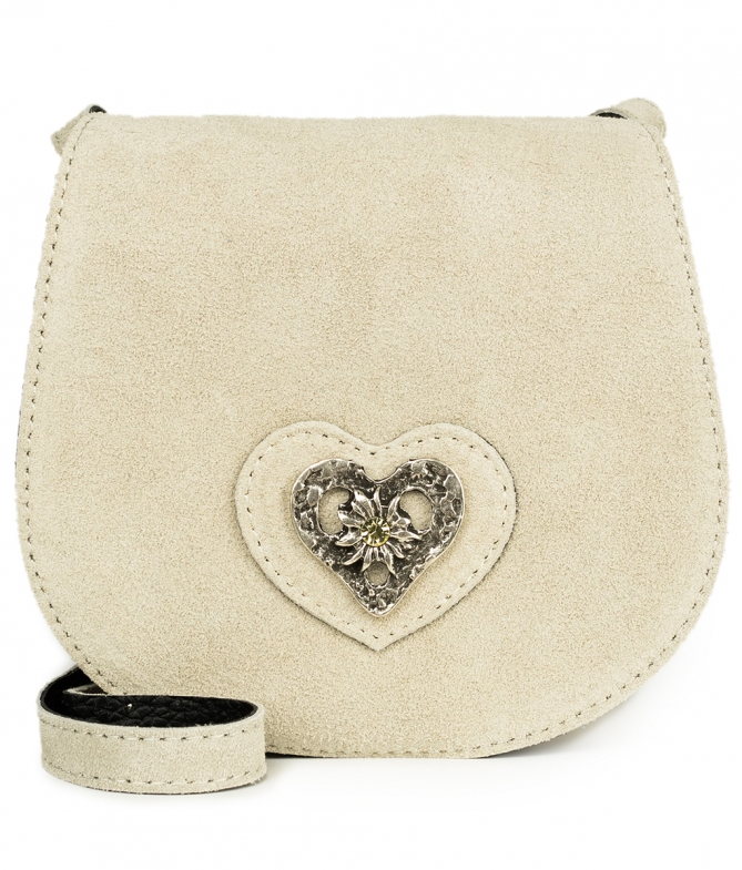 Traditional leather bag with heart TA30340-8489 natur