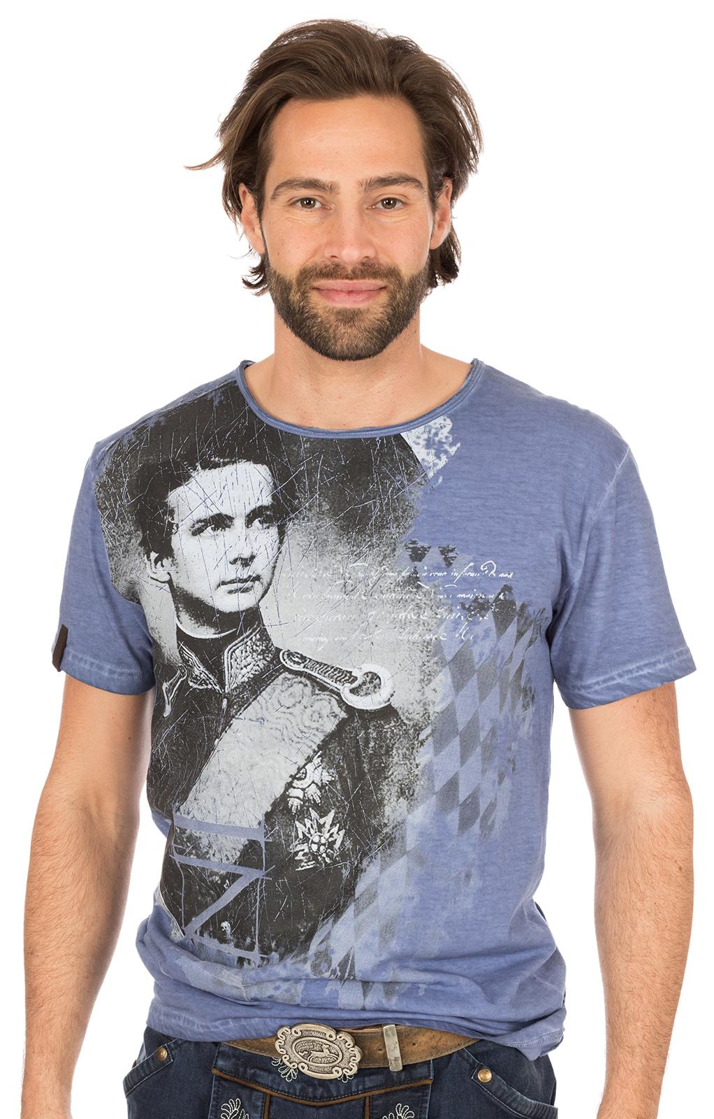Traditional German T-Shirt Wiggerl blue von Marjo