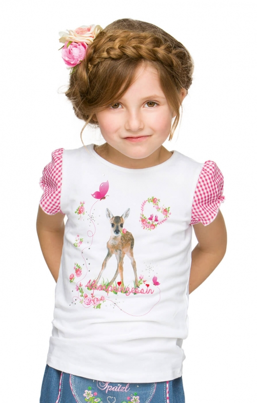 Children traditional t-shirt Sophie white