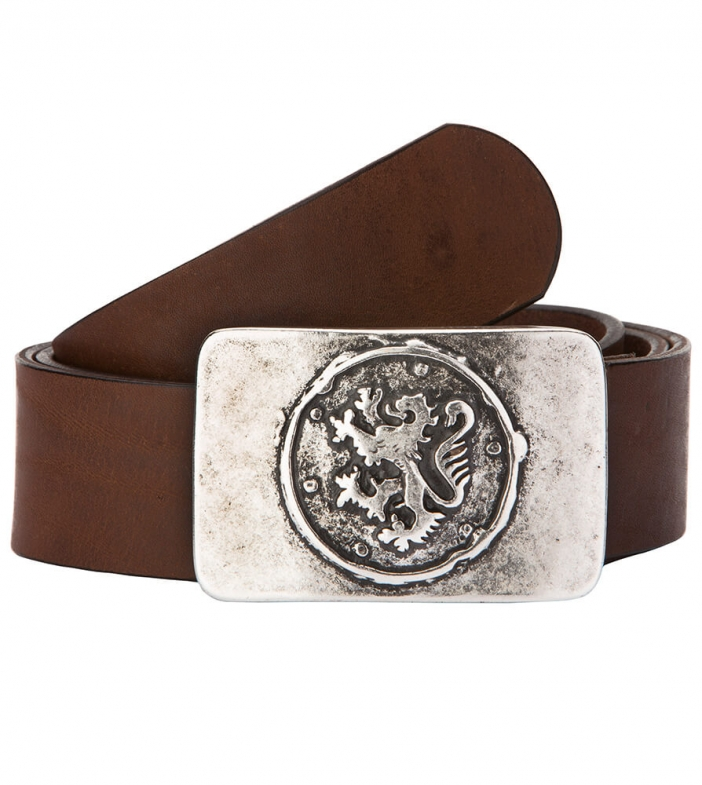 Traditional leather belt GO22156 brown