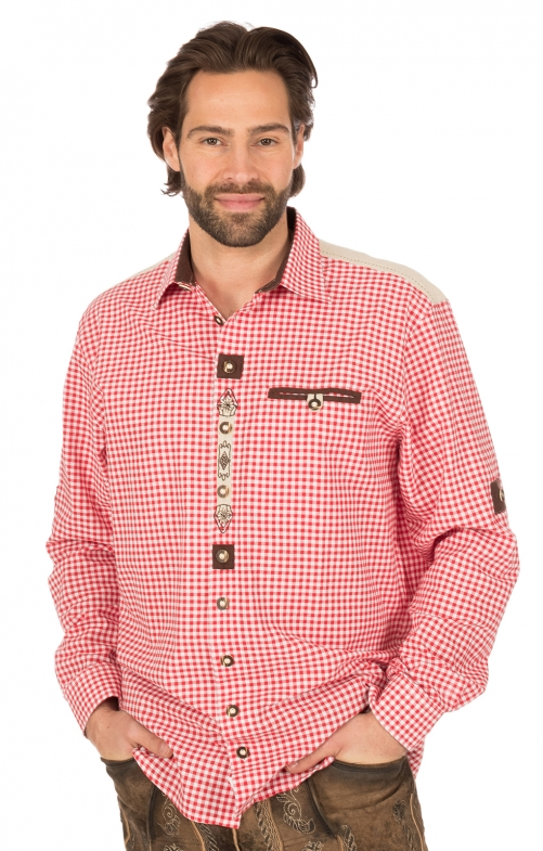 German traditional shirt red