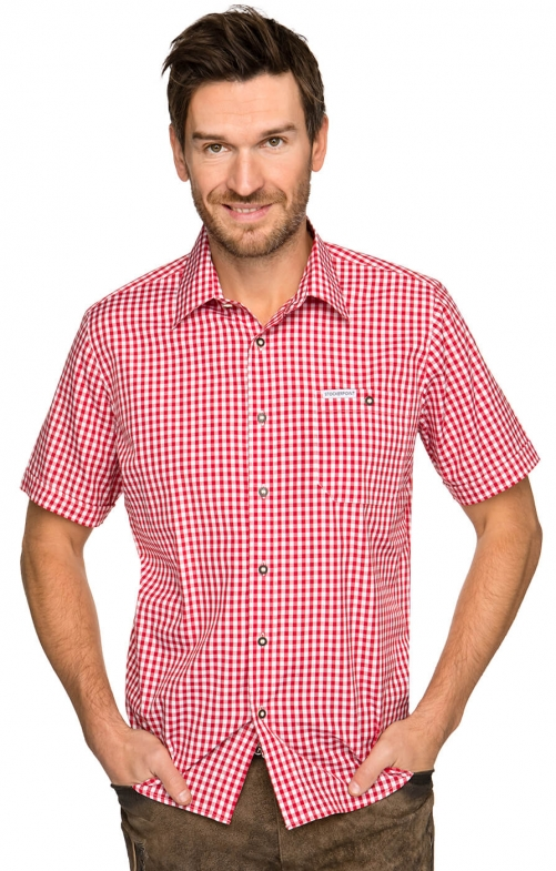 German traditional shirt checkered Renko2 red