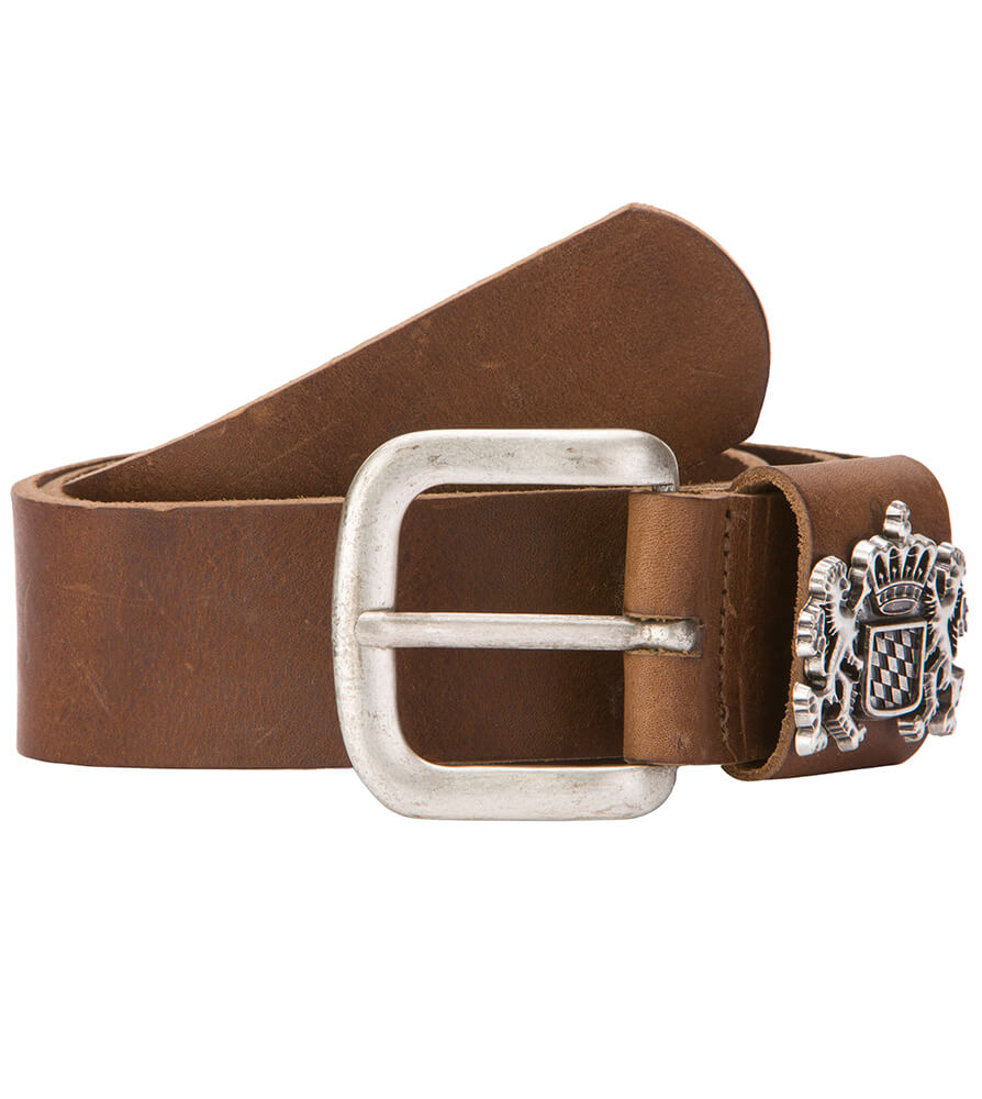 Traditional leather belt GO20490 brown von Stockerpoint