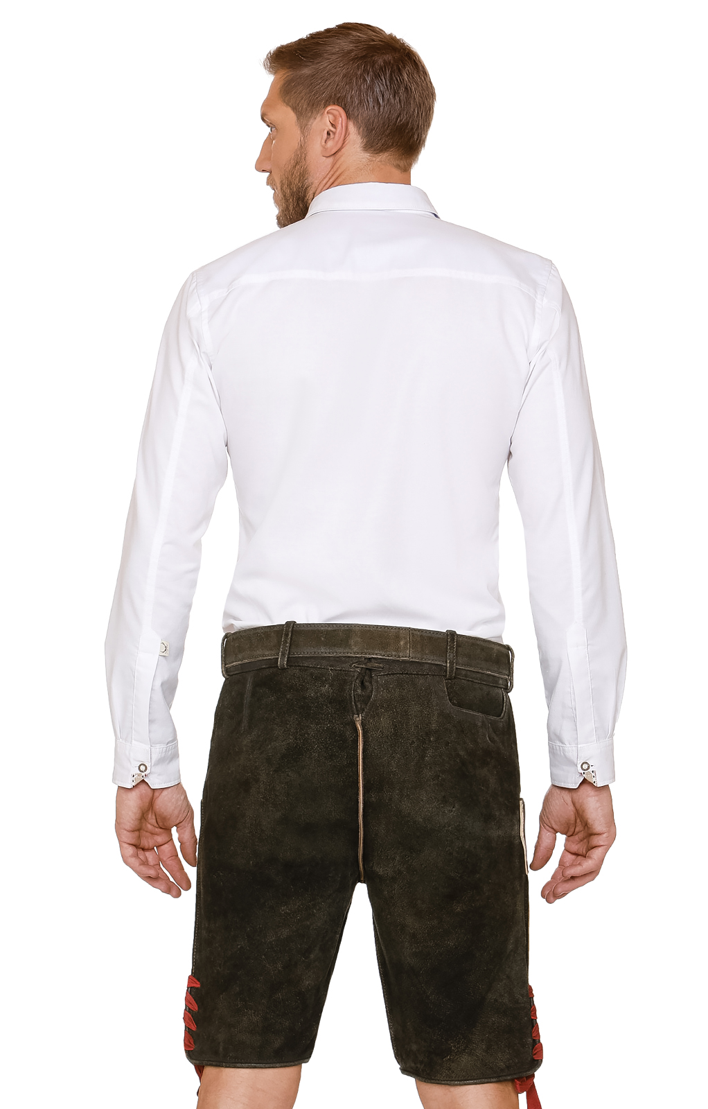 weitere Bilder von German leather trousers with belt Aron brown red