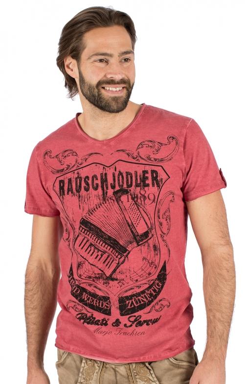 Costumes T-shirt E25 - RAUSCHJODLER red