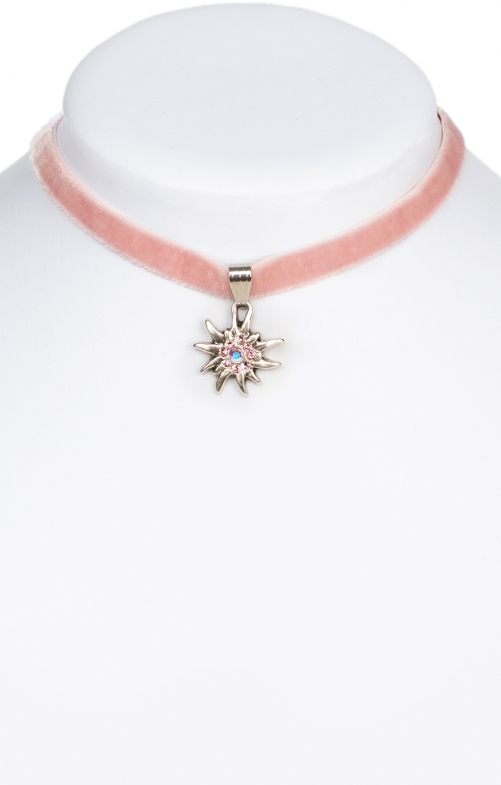 Traditional necklace Edelweiss 9197-SB pink