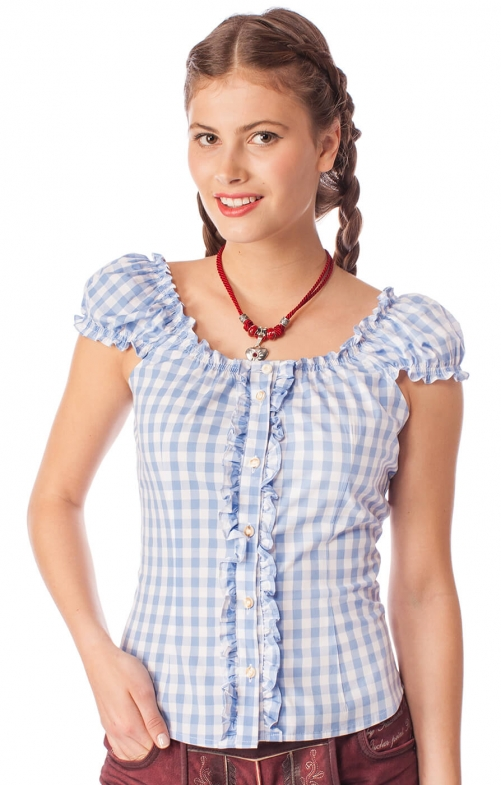 Trachten blouse Milena blue