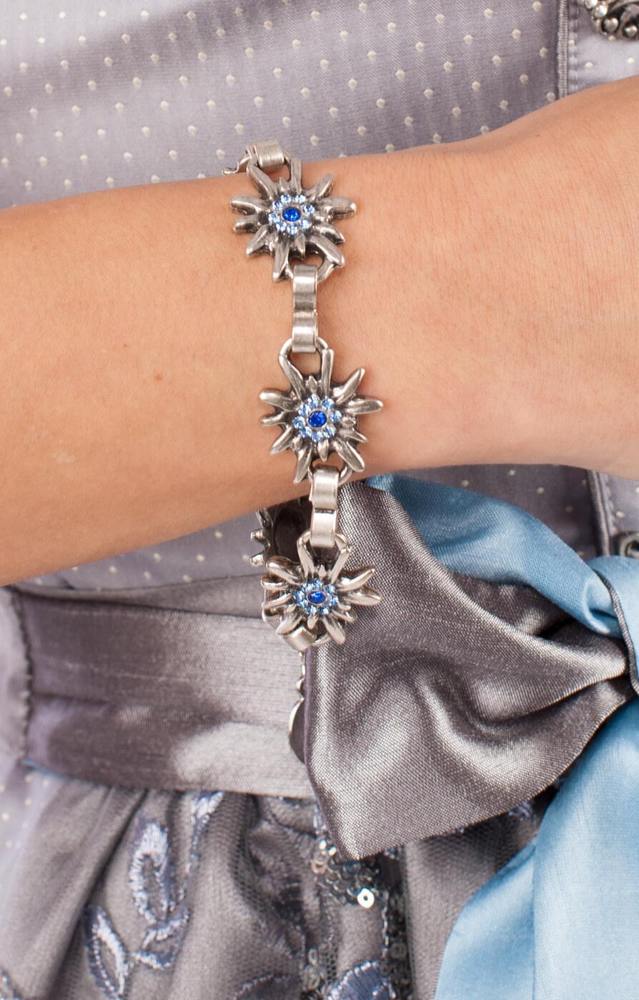 weitere Bilder von Bracelet AB9197-5 with edelweiss, blue