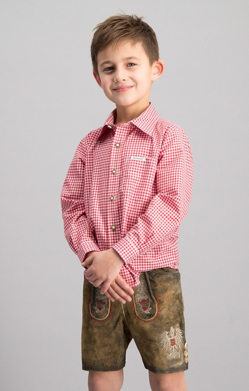 Children traditional shirt DAVE junior red