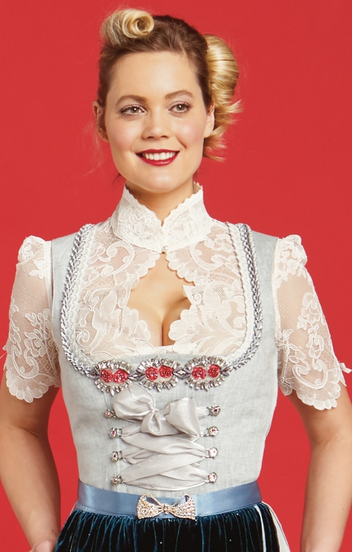 Traditional dirndl blouse Lola Paltinger ESTHER cream