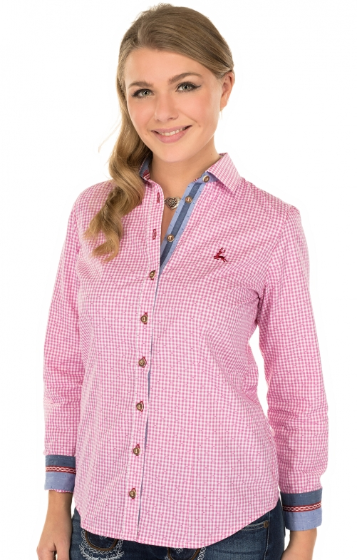Traditional blouse TERRY pink