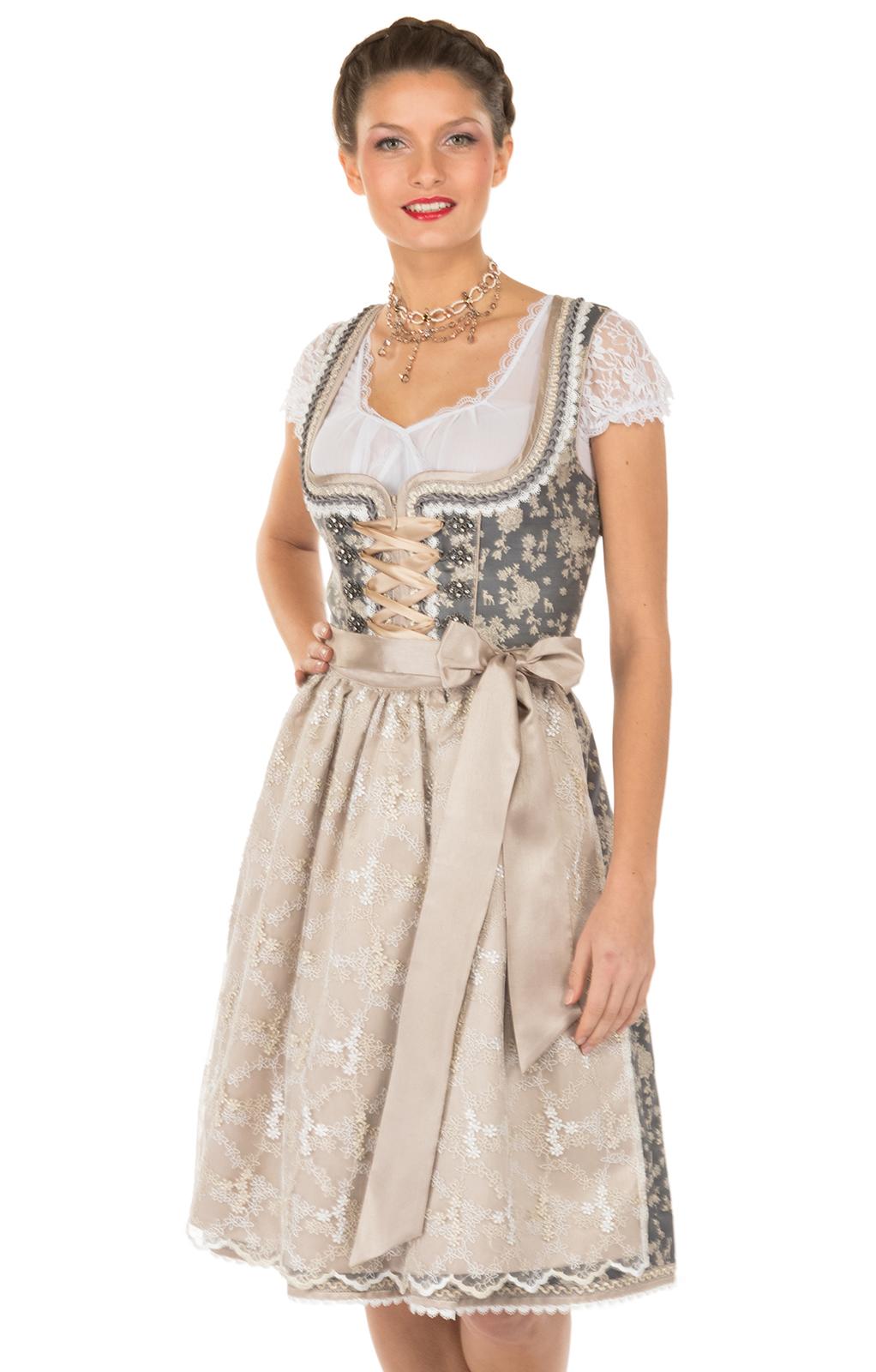 oktoberfest dirndl folk dress the dirndl midi dirndl traditional dress german clothing. Black Bedroom Furniture Sets. Home Design Ideas