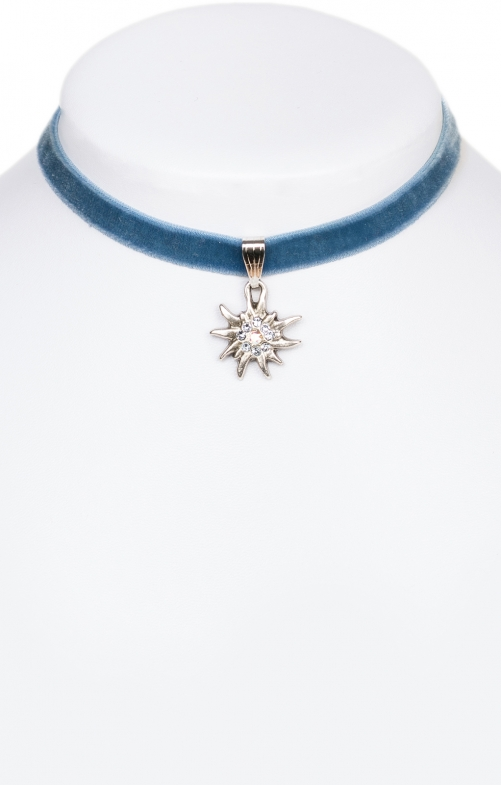 Traditional necklace Edelweiss 9197-SB blu