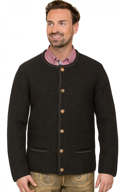 Traditional german cardigan MAGNUS4 black