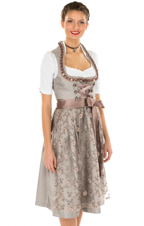 Mididirndl 2pcs. 65 cm Carsta black brown