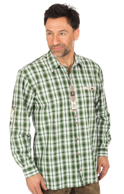 German traditional shirt green