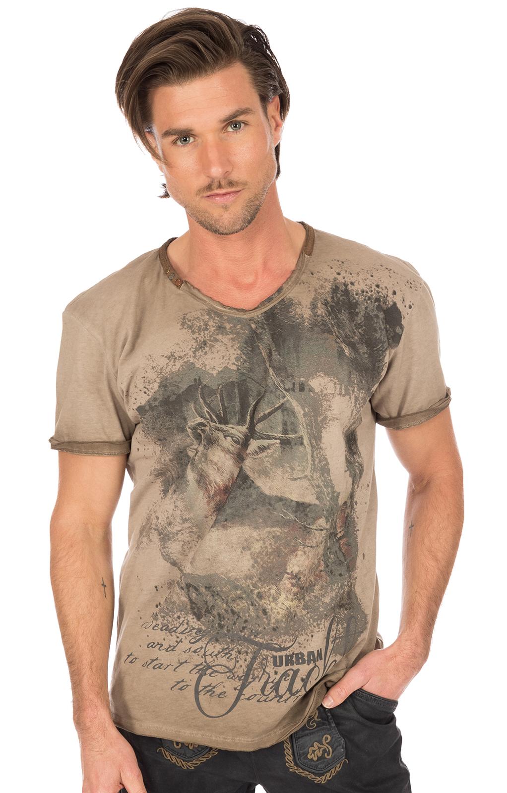 Traditional German T-Shirt brown von Hangowear