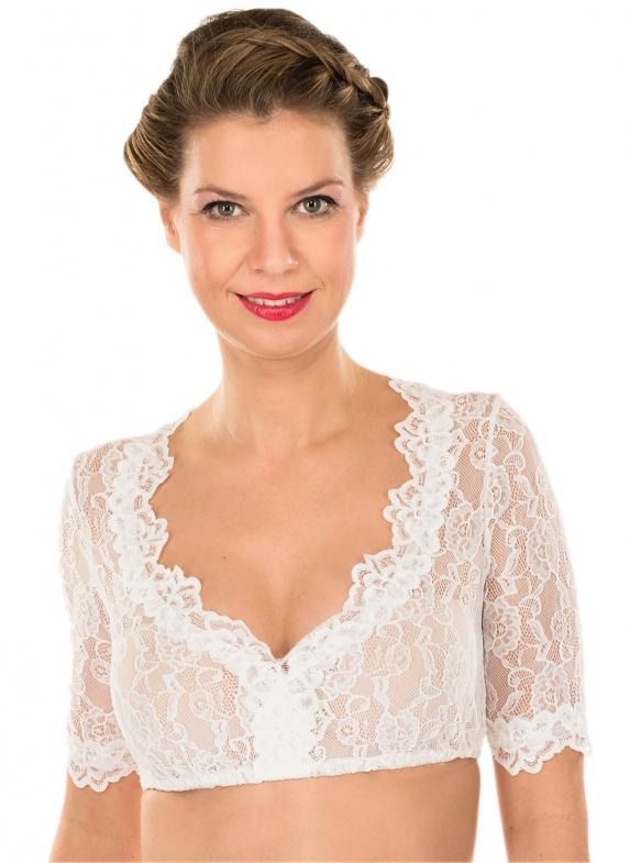 Traditional dirndl blouse CASSANDRA ecru