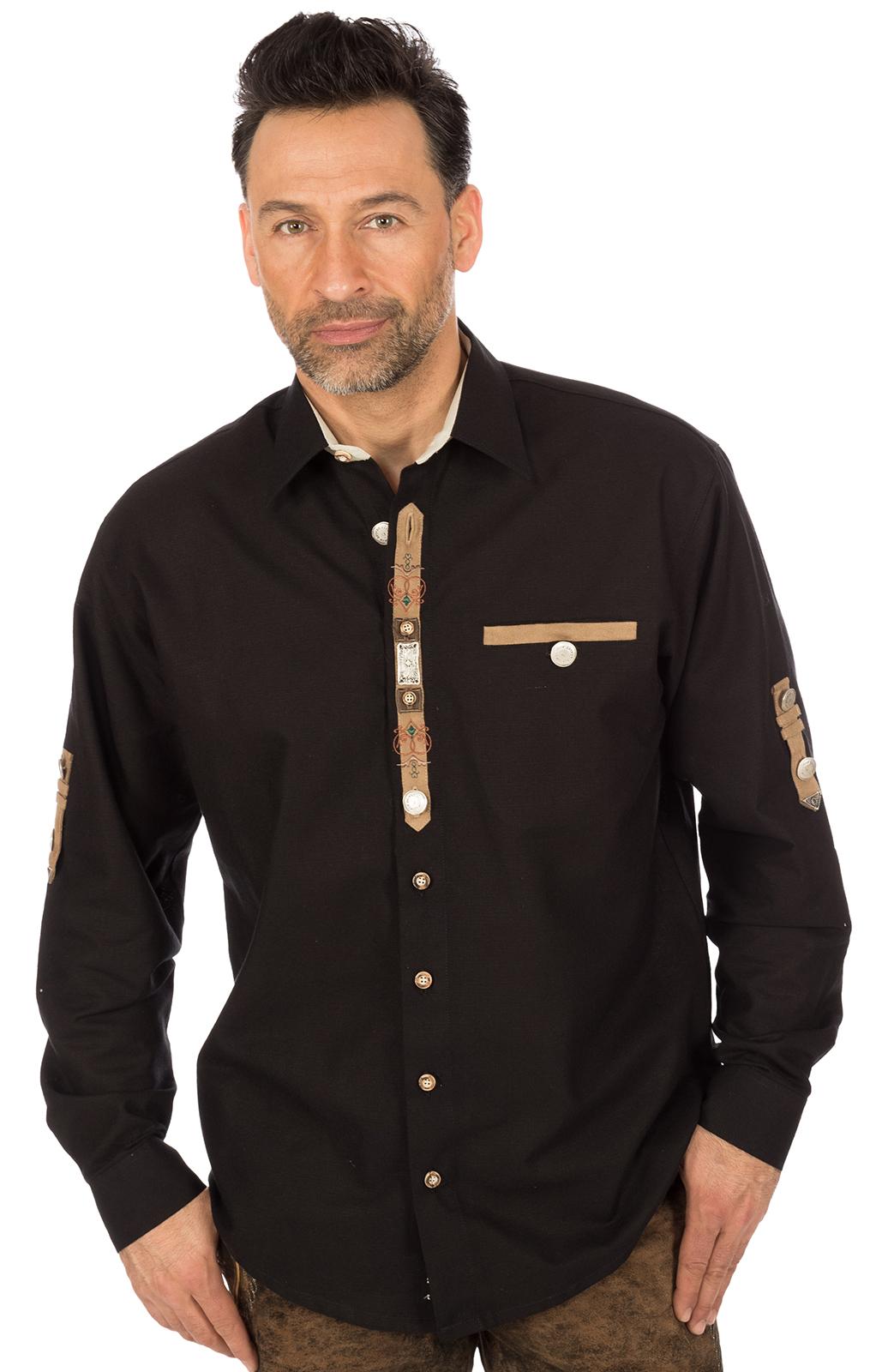 German traditional shirt black von OS-Trachten