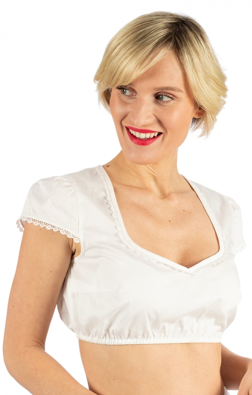 Traditional dirndl blouse MILA ecru