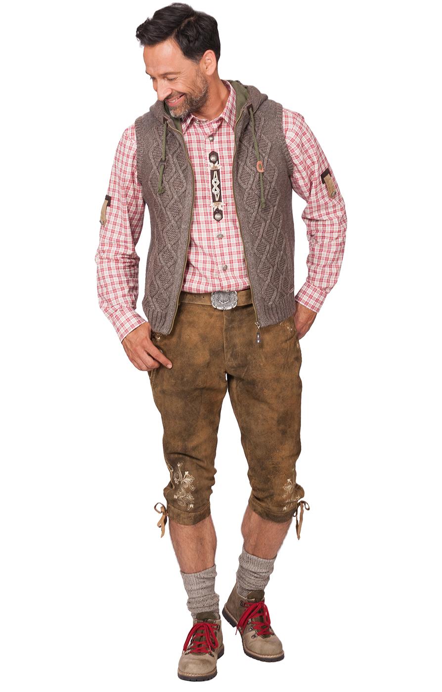 weitere Bilder von German knitted waistcoat Fulvio beige brown