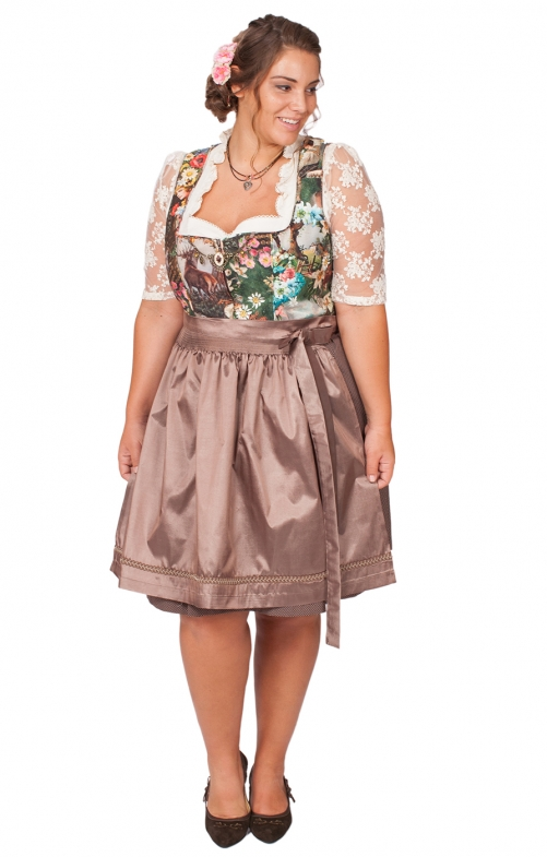 Mididirndl 2tlg. Clarice xxl colorful brown 58cm