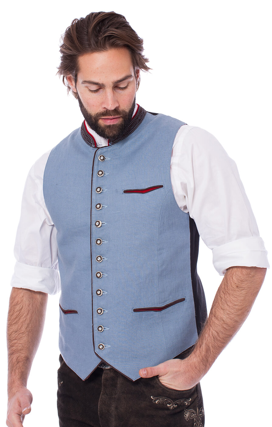 Traditional waistcoat CAMILLO-HK-icebrown von Almsach