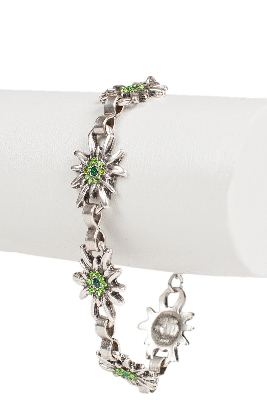 Bracelet AB9197-5 with edelweiss, green von Schuhmacher