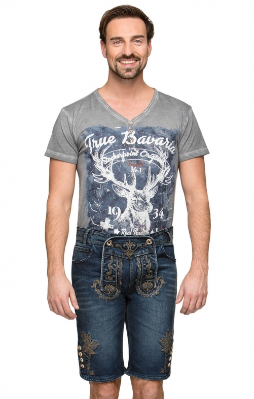 Traditional jeans shorts Mick indigo