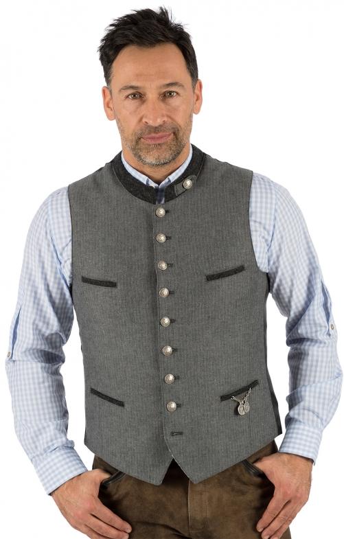 Traditional waistcoat 423000-3422-15 gray